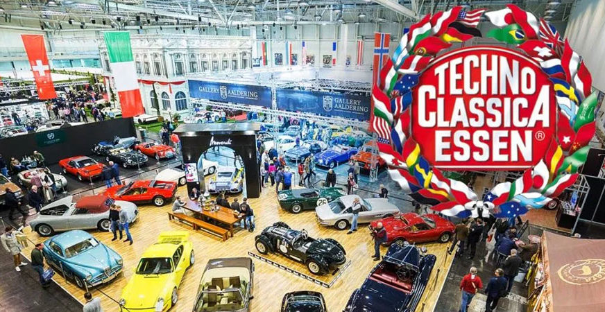 Elvifra at Techno Classica Essen Fair - Germany March 2020 fashion accessories, handmade italian leather gloves made in italy